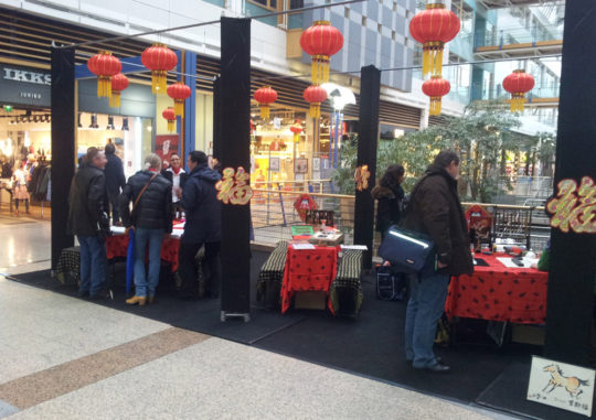 Animation calligraphie chinoise centre commercial