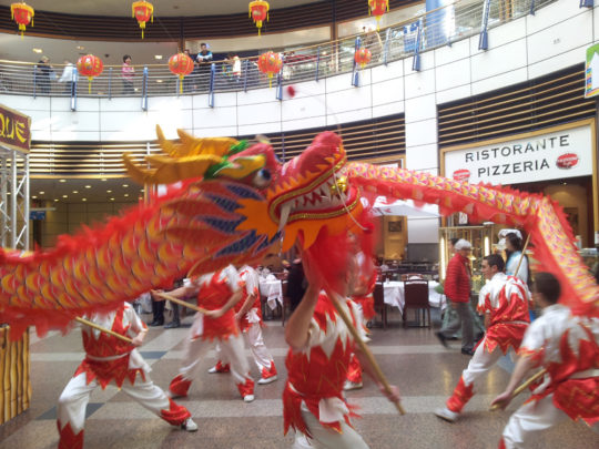 Animation Nouvel An Chinois Dragon Centre Commercial