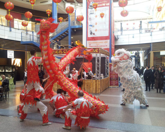 Animation Nouvel An Chinois Tigre et Dragon Centre Commercial