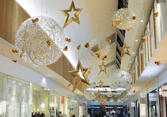 Décor lumineux de Noël pour Centre Commercial