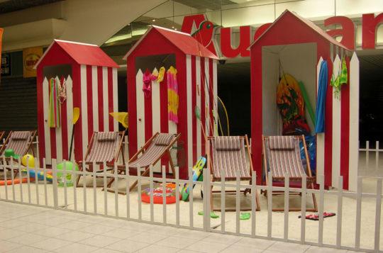 Décors Centre Commercial Cabines de plage