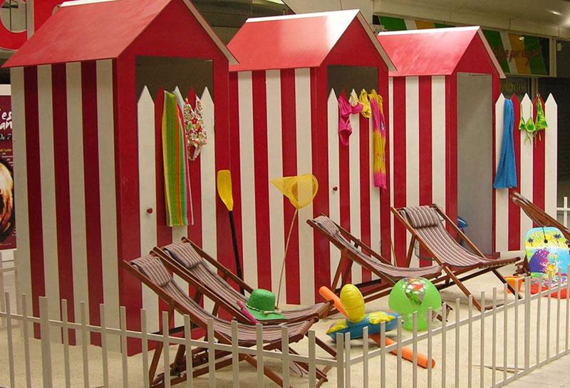 Décors de plage Centre Commercial