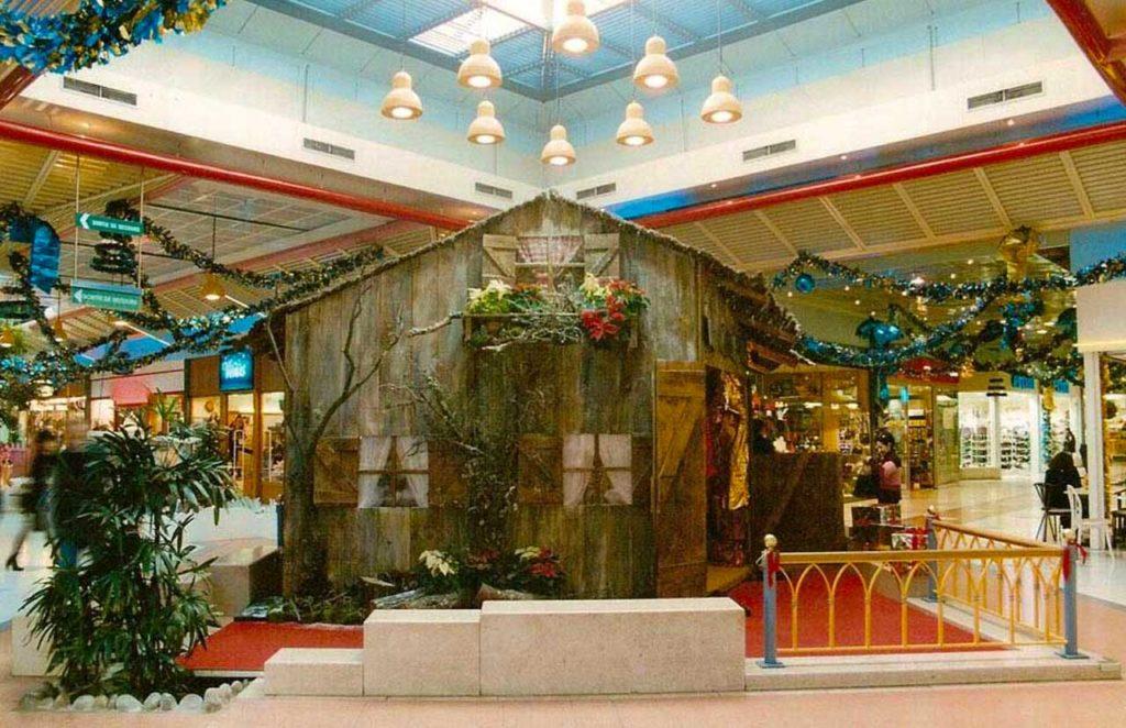 Décor de Père Noel Centre Commercial
