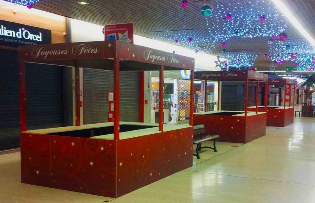 Stands Précaires Noël Centre Commercial