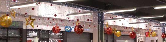 Décoration Noël Centre Commercial Suspensions