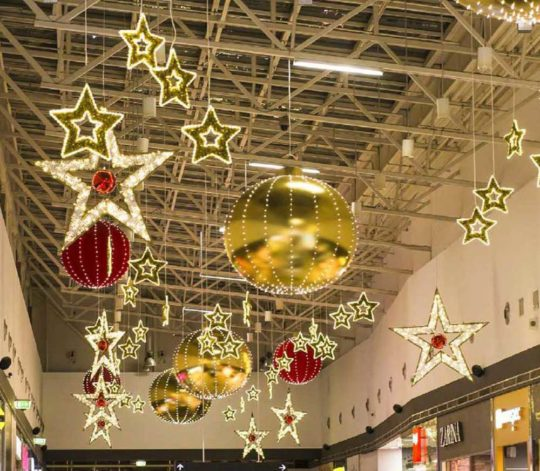 Décoration Noël Centre Commercial Etoiles