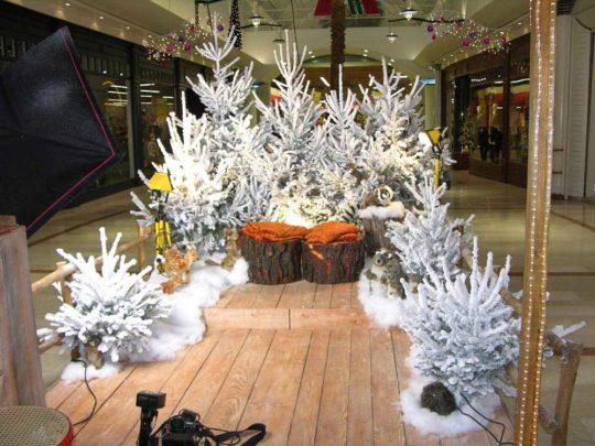 Décoration Centre Commercial Forêt de Noël