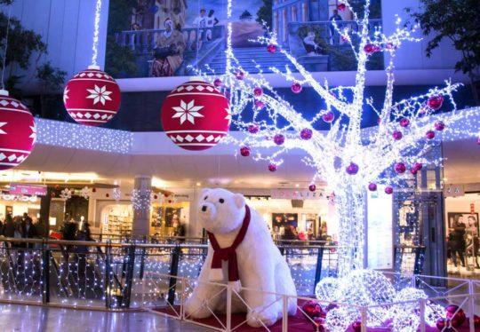 Décoration Noël Centre Commercial Ours blanc