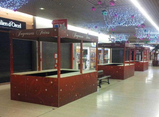 Stand précaire spécial Noël pour Galerie marchande