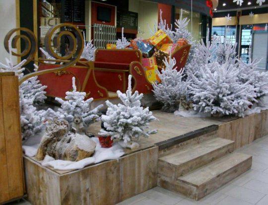 Décoration Centre CommercialTraîneau du Père-Noël