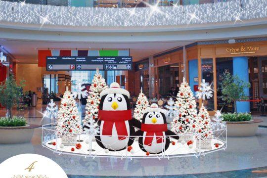 Espace Selfie Pingouins de Noël