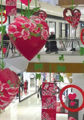 Décor Coeurs Fleuris Saint-Valentin