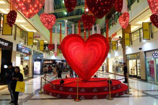 Décor Saint-valentin pour Centres Commerciaux