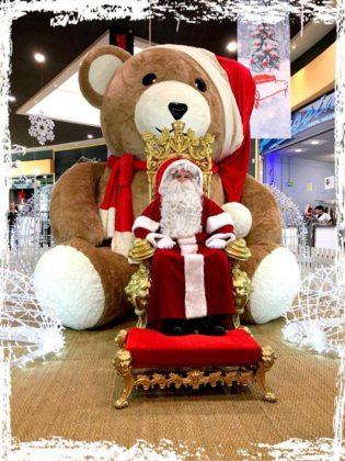 Décor Père-Noël Ourson Géant