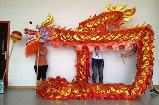 Décor Dragon rouge 10 mètres Centre Commercial