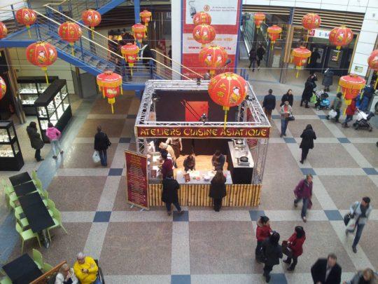 Décor Lampions Chinois Centre Commercial