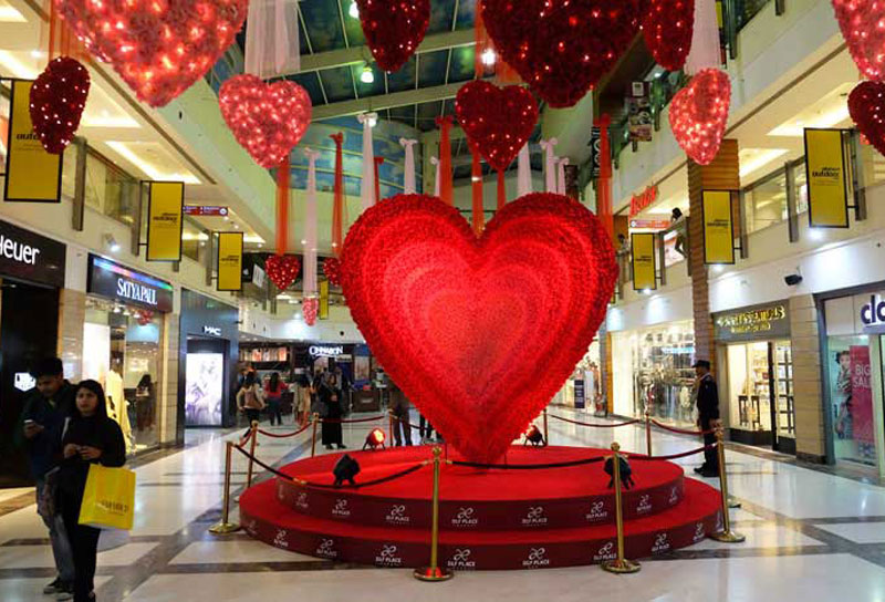 Décoration de Saint-Valentin Centres Comemrciaux