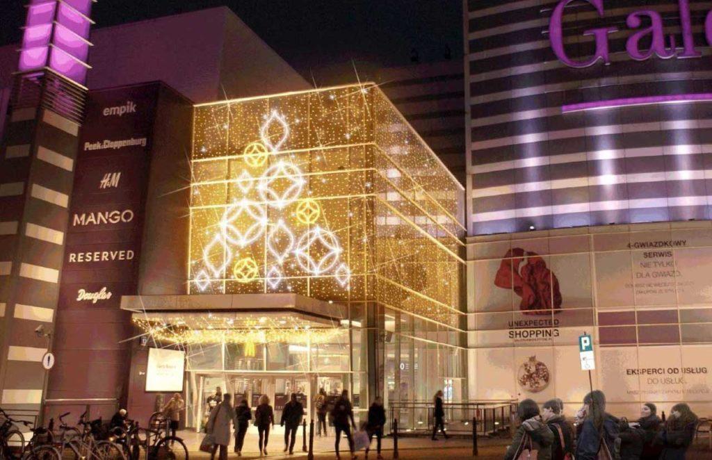 Décoration de Noël Centre Commercial Projet
