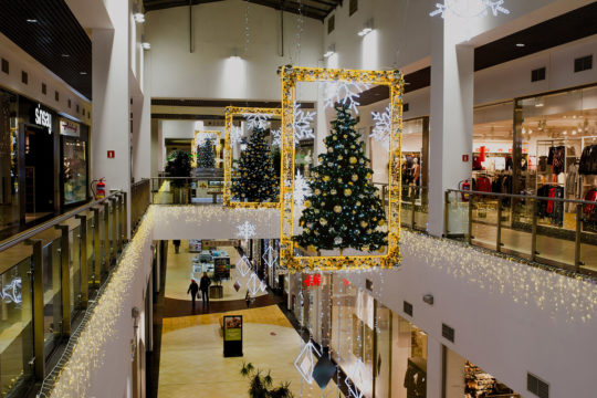 Illuminations de Noël centre commercial