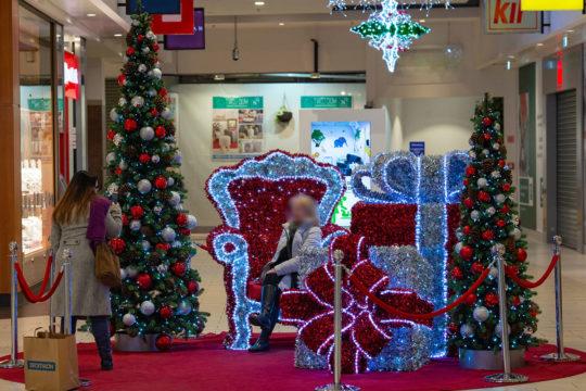 Podium Noël Centre Commercial